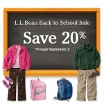 {Expired} Back To School: Save 20% Off Backpacks, Lunch Boxes, Kids Clothing & More At LL Bean