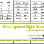 PPP Pick: Printable Kindergarten Sight Word Flash Cards