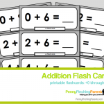 Printables For Kids: Printable Addition Flashcards (+0 through +10)