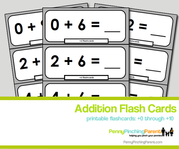 graphic regarding Addition Flash Cards Printable titled Printables For Youngsters: Printable Addition Flashcards (+0