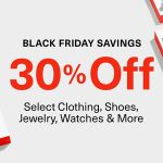 Black Friday Deals: 30% Off Select Clothing, Shoes, Watches, Jewelry & More At Amazon (Valid 11/25)