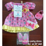 PPP Stuff: Homemade Birthday Gifts- A Special Party Dress For An American Girl Doll