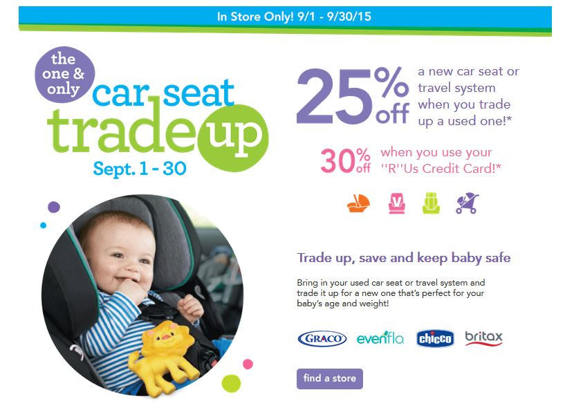 Save On A New Car Seat Or Travel System During The Babies R Us One Only Trade Up Event