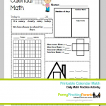 Printables For Kids: Daily Calendar Math Worksheet Printable