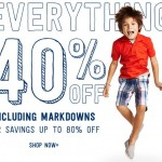 Kids' Clothing Deals: 2-Days Only… 40% Off Your Entire Purchase At Crazy8