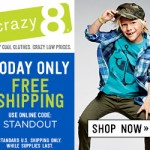 Today Only: Free Shipping Offer From Crazy 8 (Promo Code)