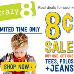 Kids' Clothing Deals: 8¢ Sale At Crazy 8 Starts Today! (Limited Time Offer)