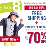 One-Day Deal: FREE Shipping + Up to 70% Off At Crazy 8
