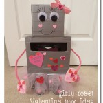 Kids' Activities: Girly Robot Valentine Box Idea