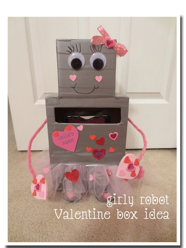 Kids Activities Girly Robot Valentine Box Idea