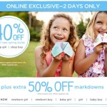 Two Days Only: 40% Off Select New Spring Styles + 50% Off Markdowns At Gymboree (Online Only)