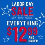 Labor Day Deals: Every $12.99 & Under At Crazy 8 This Labor Day Weekend!
