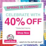 Kids' Deals: 40% Off Select Labels At Mabel's Labels (LIMITED Time Offer)