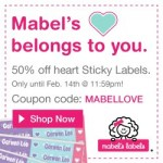 Today Only: Get 50% Off Heart Sticky Labels At Mabel's Labels (Promo Code Needed)