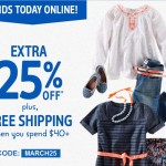 Kids' Clothing Deals: Ends Today 15-25% Off Coupon Code + Printable Coupon