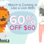 Kids' Clothing Deals: Get 60% Off $60+ Orders At Schoola.com {Promo Code}