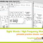 PPP Free Learning Printable: Sight Word Practice Sheets- Set 3