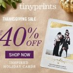 Black Friday Deals: Save 40% + FREE Shipping At Tiny Prints Promo Code (Valid 11/25-11/27)