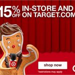 Cyber Monday Deals: 48-Hours Save 15% SITEWIDE At Target.com! (Valid 11/27-11/28)
